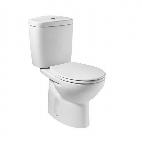 Roca Laura Close Coupled Toilet With Lever Cistern - Standard Seat - White